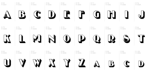3dfonts 1 20 Creative and Beautiful 3D Fonts To Download