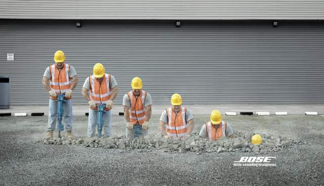 Bose Noise Cancelling Headphones 25 Extremely Creative  Advertisements That Makes You Look Twice