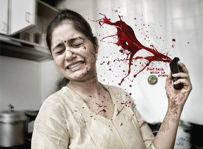 Dont talk while he she drives 25 Extremely Creative Advertisements  That Makes You Look Twice