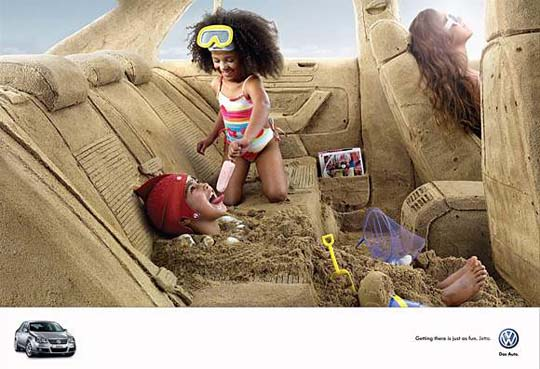A Trip to The Beach Creative Automotive Ads That Make You Say WOW (Funny PICS)