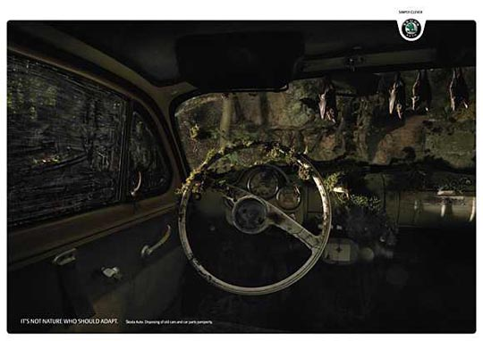 Disposing of Old Cars Creative Automotive Ads That Make You Say WOW (Funny PICS)