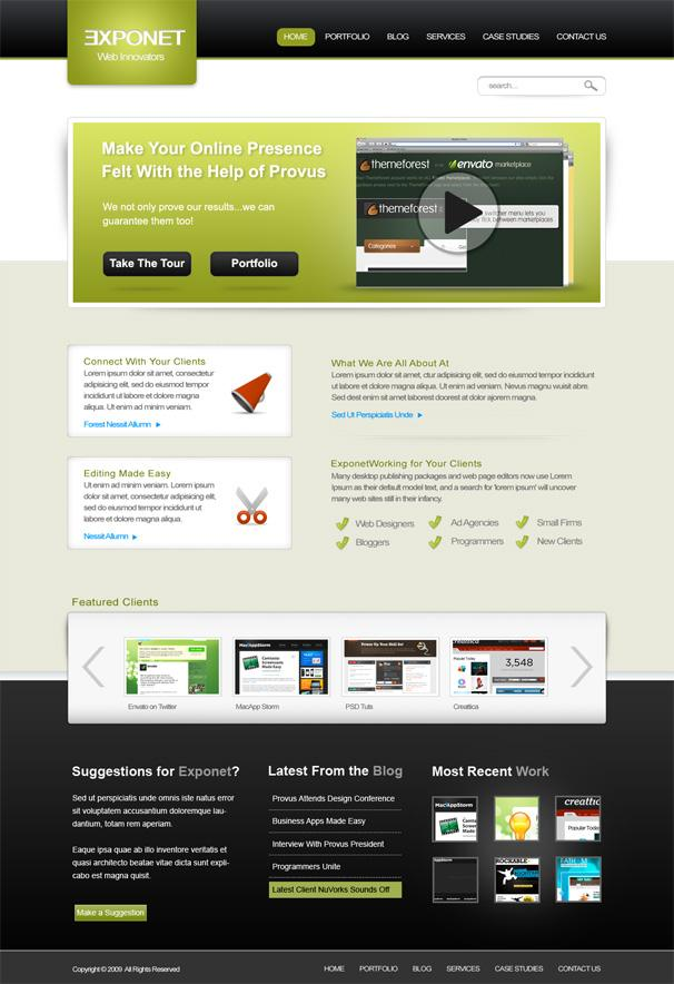 Exponet-Business-Site-Free-PSD-Website