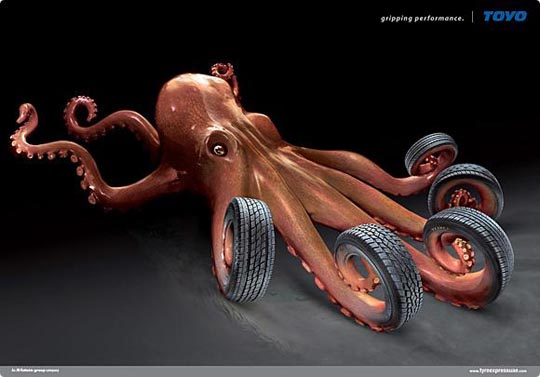 Toyo Octopus Creative Automotive Ads That Make You Say WOW (Funny PICS)