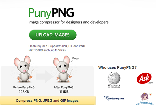 PunyPNG - PNG Compression and Image Optimization
