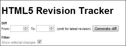 html5 revision tracker