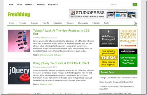9 premium wordpress themes 2010