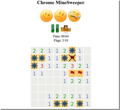 Chrome-MineSweeper