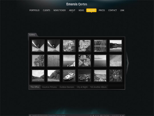 Black Flash portfolio templates