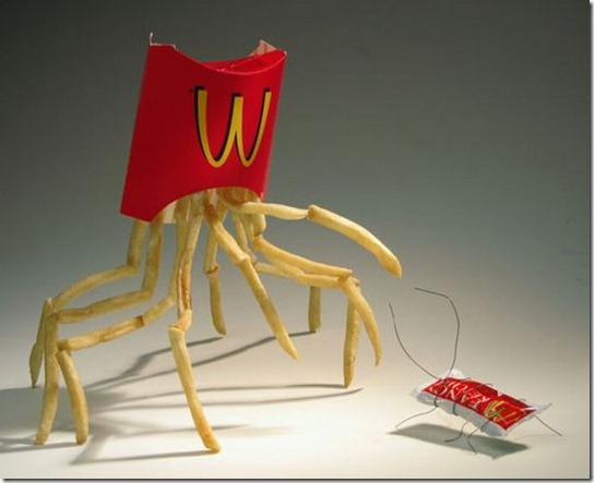 McDonalds as Sculpture Materials