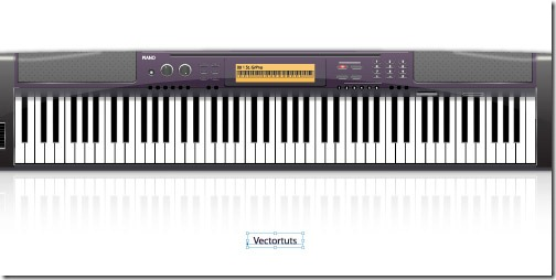 How to Create an Electronic Piano in Illustrator