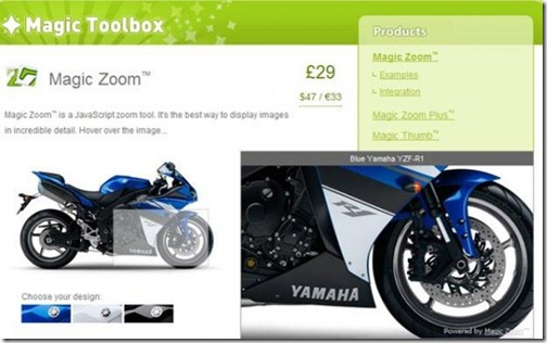 Magic Toolbox – Javascript and Flash Image Zoom Tools
