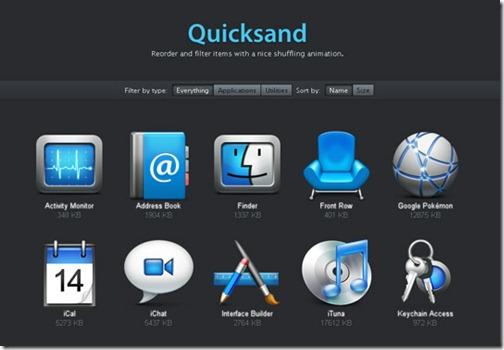 jQuery Quicksand