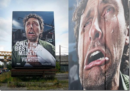 Calgary International Film Festival: Crying billboard