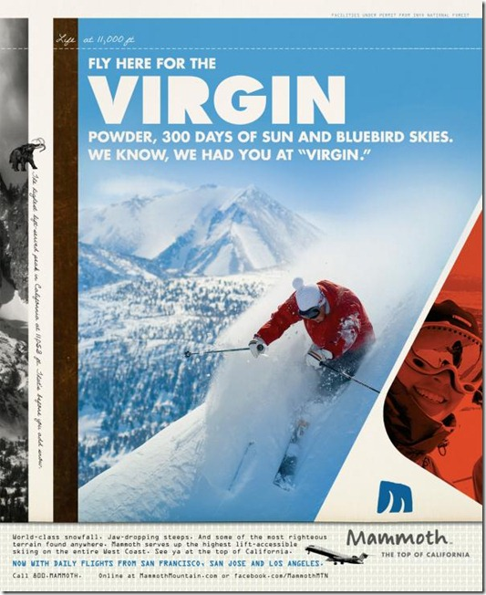Mammoth Mountain Ski Resort: Virgin powder