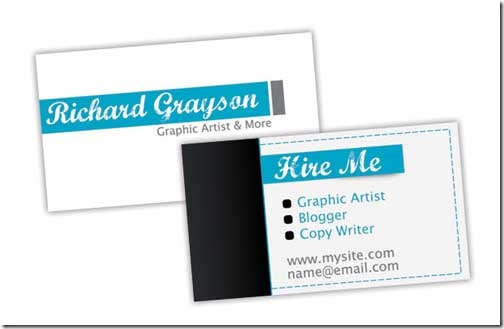Free PSD Business Card Template for a Freelancer