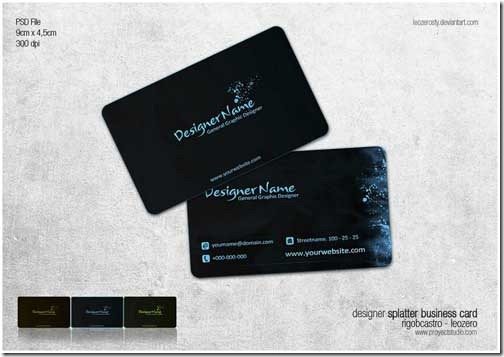 Free PSD Business Card Template14