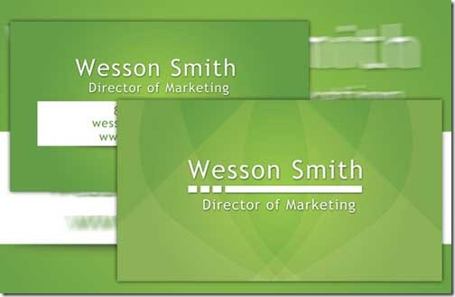 A collection of free creative psd business card templates green business card reheart Gallery