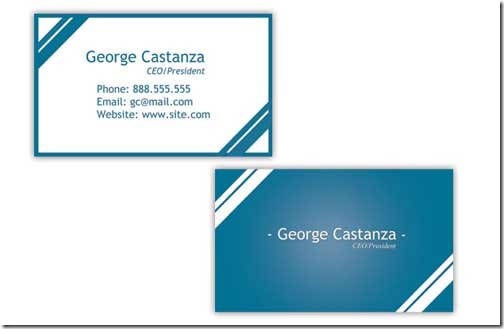 Business Card: Free PSD Print Template for a Business Card