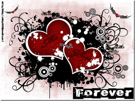 Grunge Love Wallpaper