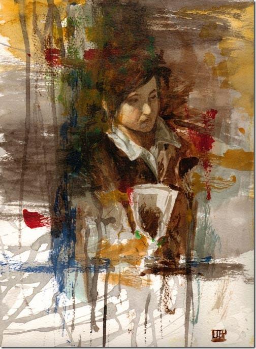 Watercolor of Boy