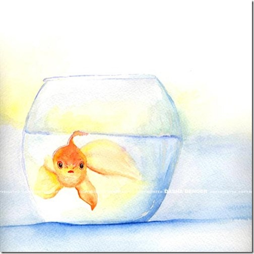 Watercolor Glod Fish
