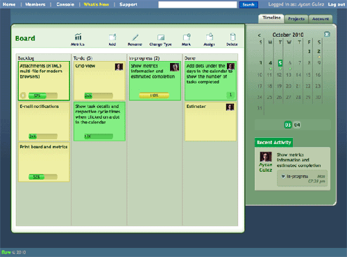 flow is a lean project management application based on kanban