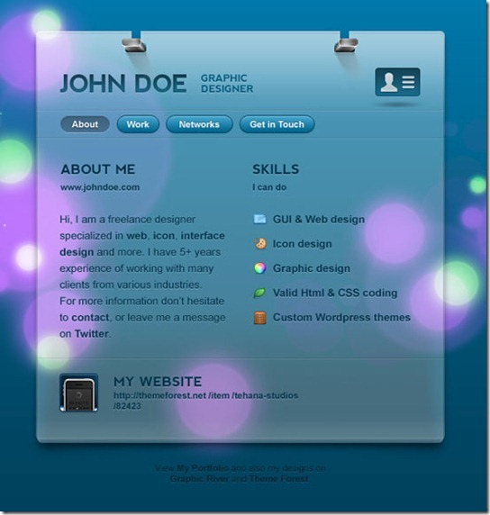 DotMe Business Card Theme