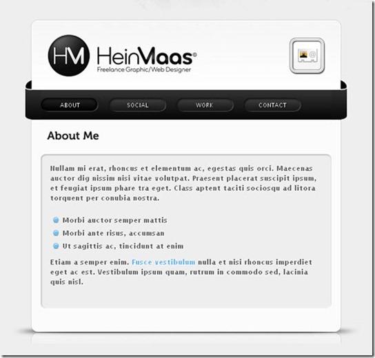 V-card site template