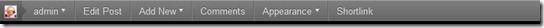Admin Bar in WordPress