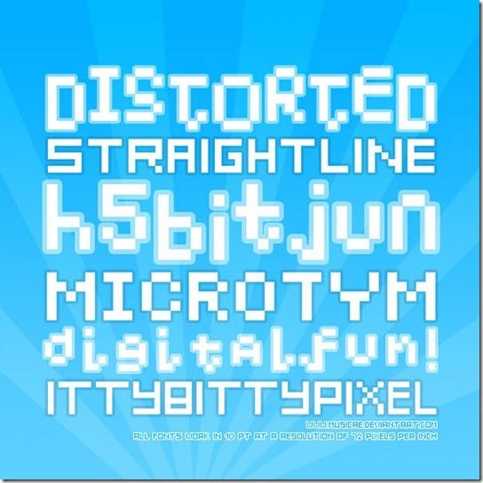 Musciae's fonts