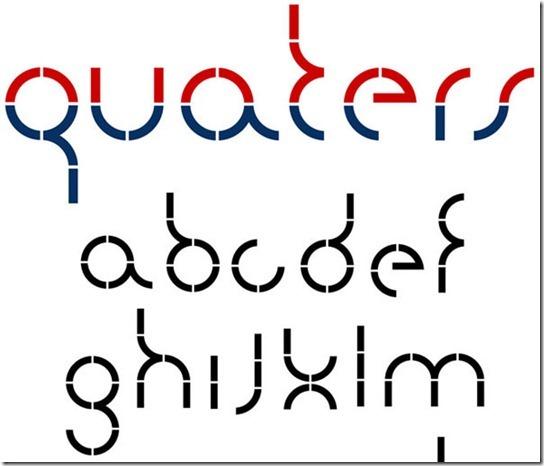 Quarters typeface