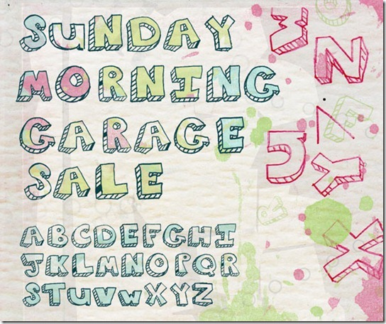 Sunday morning Garage font