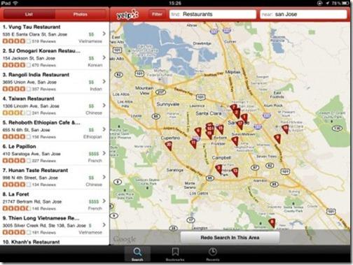 Yelp iPad App