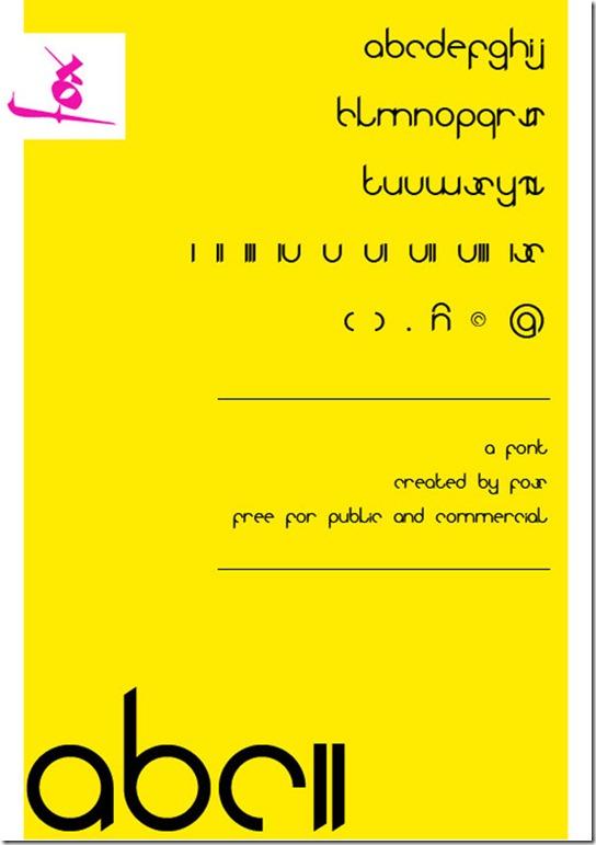 abc font typeface