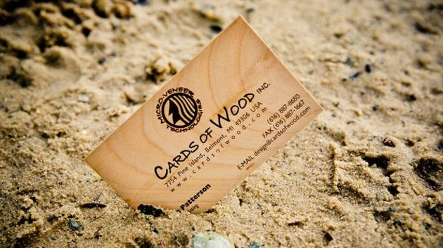 20 Amazing Wood Business Cards