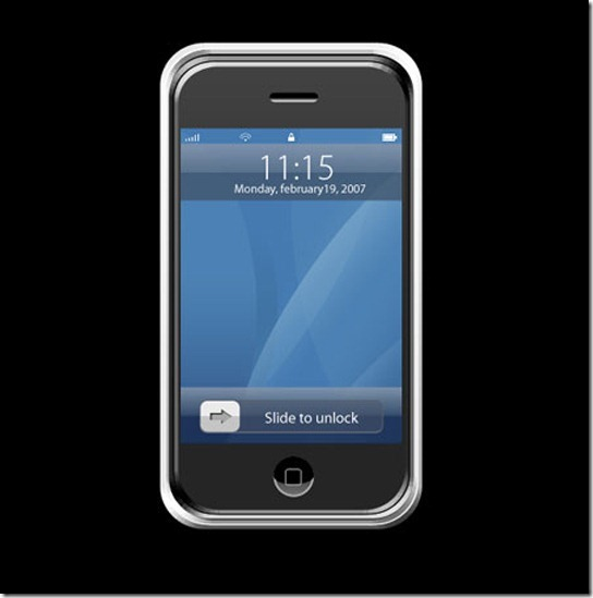 Apple iPhone Mobile Phone Design in Photoshop