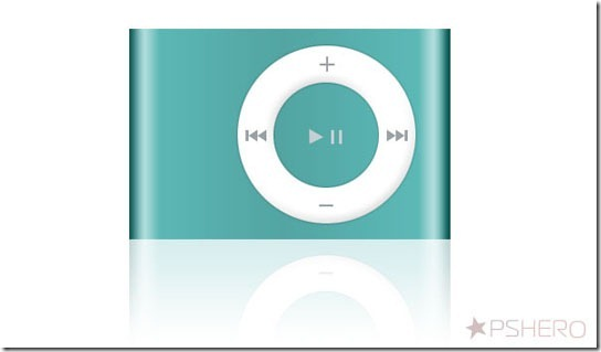 Apple iPod Shuffle from Scratch in Photoshop