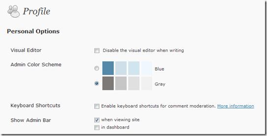 profile on wordpress