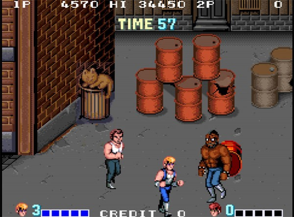 Double Dragon Video Game Retro 80s T Shirt