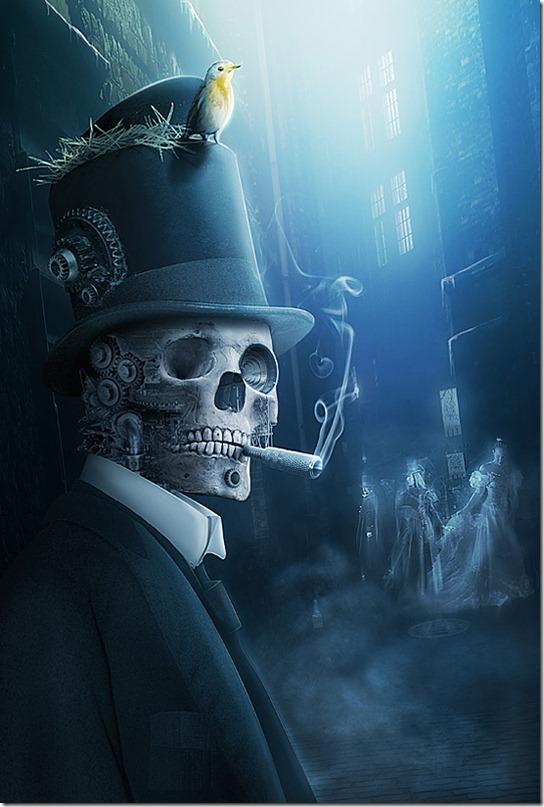 http://www.behance.net/Gallery/SlashThree-XII-SteamPunk-__-Old-London-Memories/347735