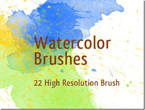 Watercolor Photoshop Brushes-12