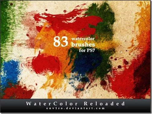 Watercolor Photoshop Brushes-13