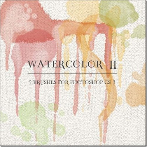 Watercolor Photoshop Brushes-7