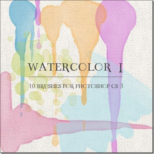 Watercolor Photoshop Brushes-9