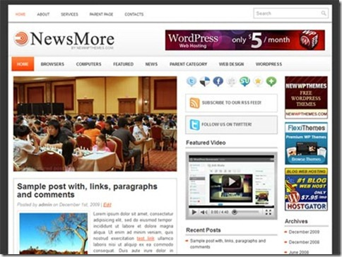 Wordpress themes of April 2011