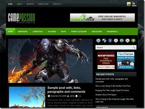 Wordpress themes of April 2011