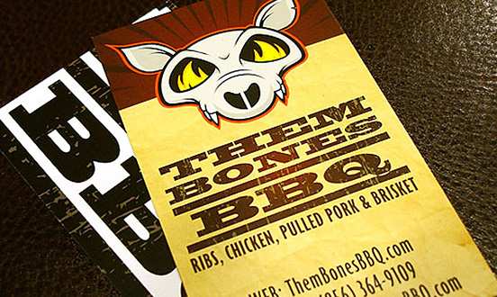 Them Bones BBQ Business Card
