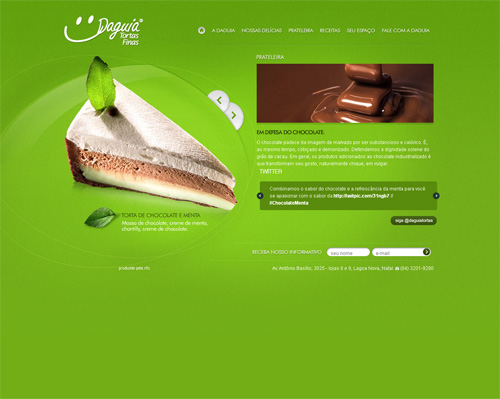 Green Colored Website