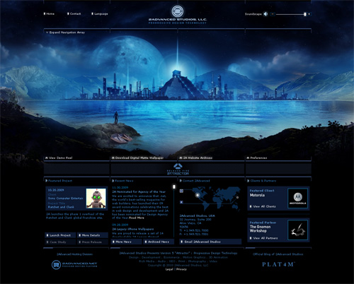 Indigo Colored Website