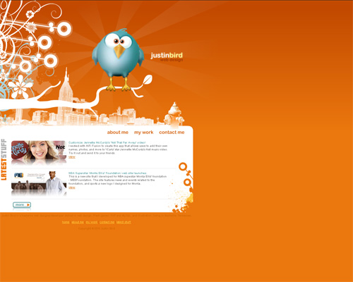 Orange Colored Website
